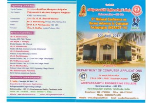 5th National Conference on Recent Advances in Computer Technologies