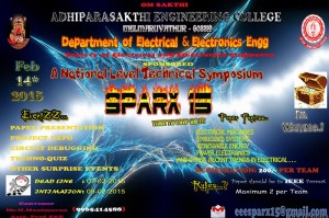 A National Level Technical Symposium – SPARX 15 @ Auditorium